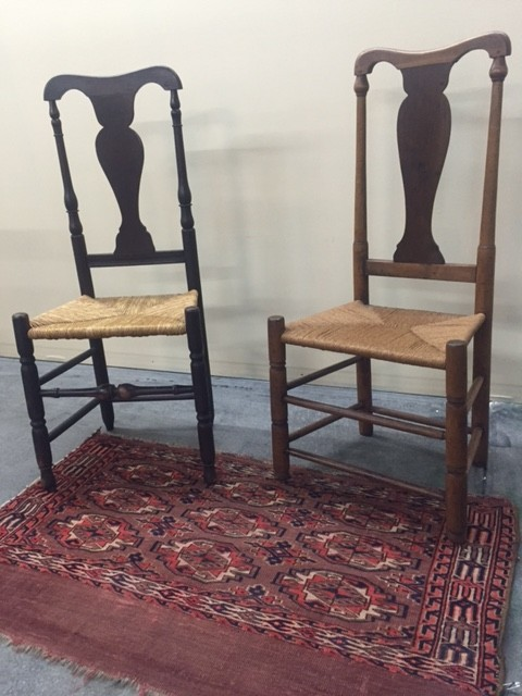 Tags: 1stDibs, American antiques, American decor, chairs, coountry style,  country, country decor, dining chairs, farmhouse antiques, primitive  antiques. - Antique American Queen Anne Style Country Chairs Perfect For Country