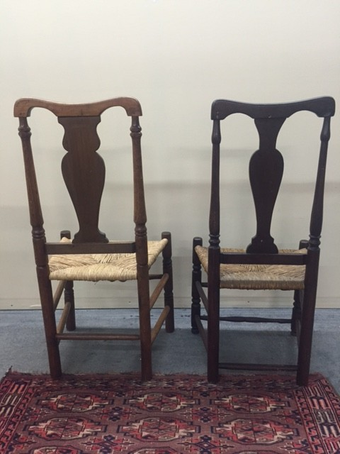 Tags: 1stDibs, American antiques, American decor, chairs, coountry style,  country, country decor, dining chairs, farmhouse antiques, primitive  antiques. - Antique American Queen Anne Style Country Chairs Perfect For