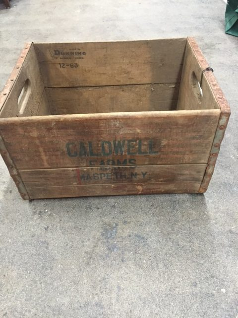Vintage wood crate can be used in a farmhouse vintage for Uses for old wooden crates