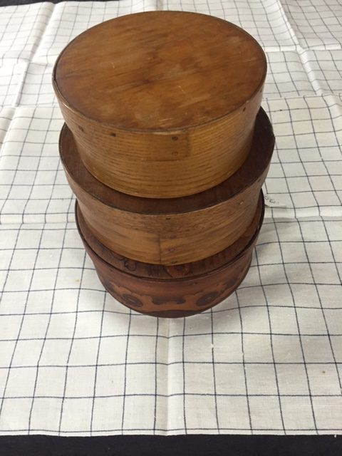 Stacked 3 boxes. Inventory A1 ... & Vintage round pantry covered storage wood boxes add charm to your ...