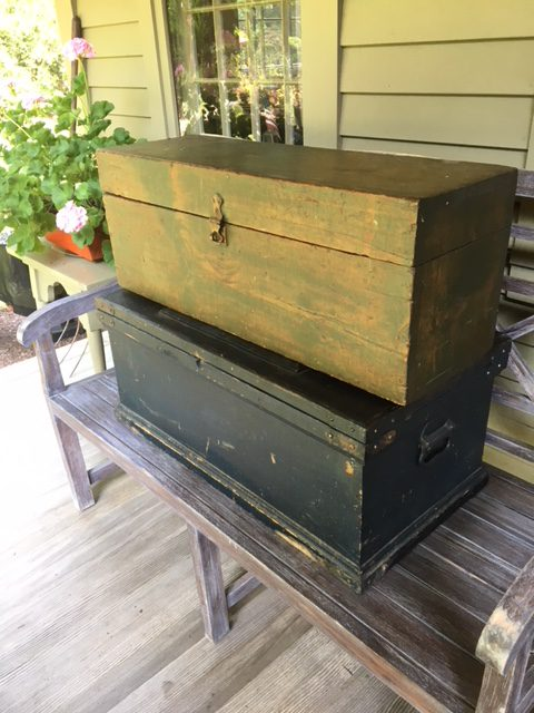 Addicted To Vintage Wood Tool Storage And Farm Boxes With Metal