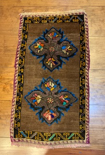Small Colorful Turkish rug