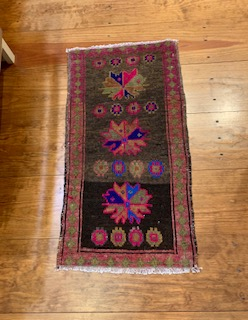 Small wool soft textured rugs with weaved in designs made in Turkey.  Traditionally made by women weavers.