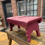 Beet painted milk bench