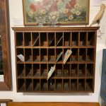 Antique wall mail sorter